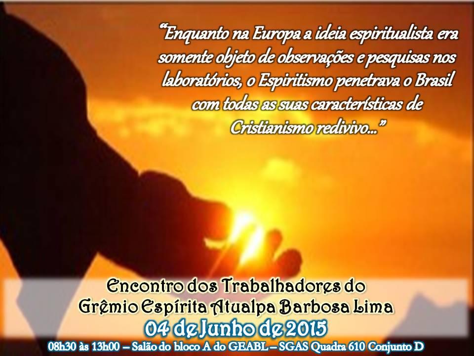 Cartaz Espiritismo no Brasil